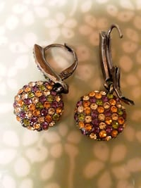 Sparkly autumn  leverback earrings for Thanksgiving Sudley Springs, 20109