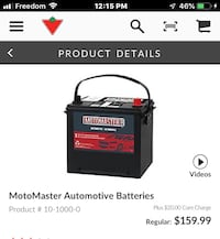 MOTOMASTER BATTERY USED FOR 0nly 5 months . Calgary, T3H 1K6