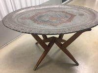 Vintage Moroccan Tray and Stand Table McLean, 22101