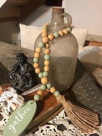 Antique Jar & Wood Beads