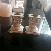 set of 2 white and golden candle holder Newmarket, L3Y 6K9