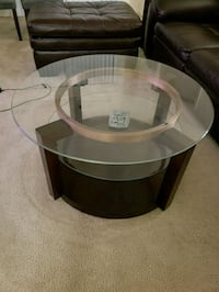 round glass top wooden coffee table Silver Spring, 20904