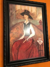 Black framed painting Middletown, 10941