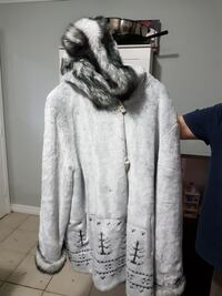 white and gray hooded coat Barrie, L4M 2Z7
