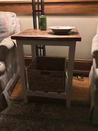 Side table with basket Minneapolis, 55418