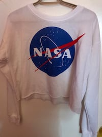 White NASA Crop Top  Toronto, M9V 4M1