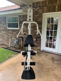 White and black exercise equipment