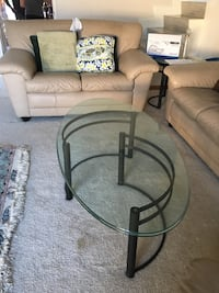 Black metal and glass coffee table and side table . Torrance, 90505