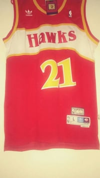 Dominique Wilkins Red 21 Jersey Rockville, 20853