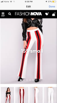 Fashion nova striped detailed pants Hamilton, L8W 1A1