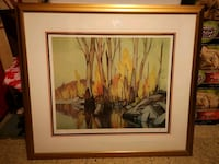 """A.J Casson """"Autumn Reflections' Limited Edition (Printed 246/250)  Toronto, M1K 2R4"""