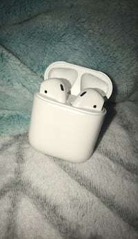 white Apple AirPods with case Westminster, 21158