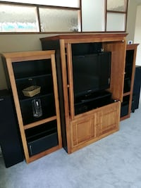 Wall unit with TV was $2500! Edmonton, T6R 3L3