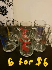 Six beer glasses in excellent condition  Toronto, M2M 4B9