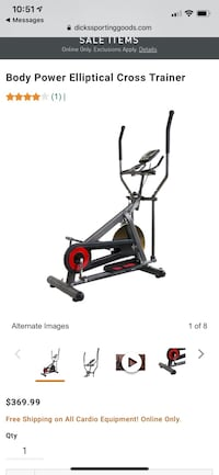 NIB Body Power Elliptical cross trainer  Frederick, 21702