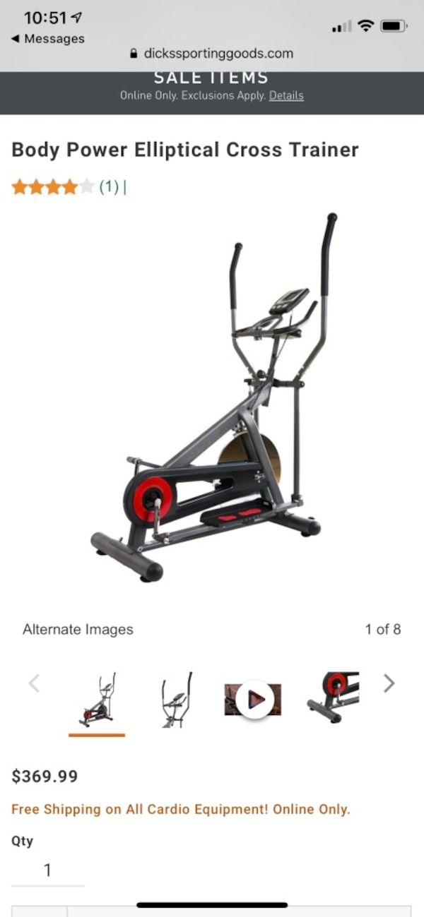 NIB Body Power Elliptical cross trainer