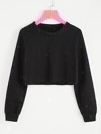 new forever 21 black cropped sweater size medium Colton, 92324