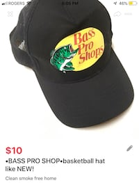 •BASS PRO SHOP•basketball hat like NEW! London, N5V 1H5