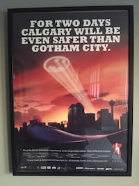 Calgary Comic Book Expo Framed Advertising Posters Batman Superman
