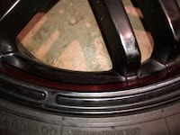 18 inch rims with tires.one rim has hairline crack which can be repaired Decatur, 30030