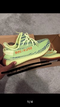 pair of green Adidas Yeezy Boost 350 V2 Metairie, 70001