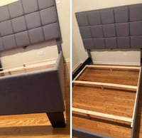two brown wooden bed frames Chicago Ridge, 60415