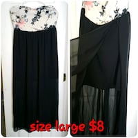 black and white long-sleeved dress Mission, 78573