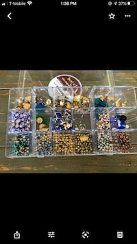 Studs for Clothing and Charms for Crafting  4 craft boxes filled