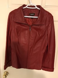 Red leather zip-up jacket Vaughan, L6A 1J3