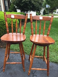 two brown wooden windsor chairs Ashburn, 20147