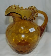 Small vintage amber glass pitcher  Edmonton