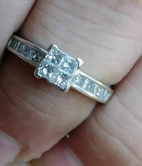 silver-colored diamond ring Fort Worth, 76133