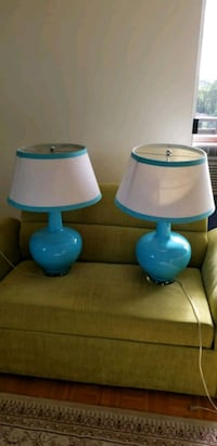 blue-and-white table lamps (each $50) Toronto, M1R 2H2