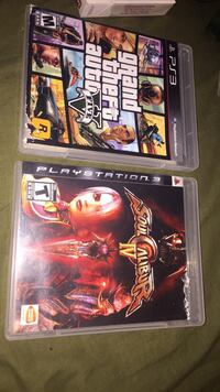 Grand Theft Auto Five and Soul Calibur IV playstation 3 game cases Glenwood, 60425