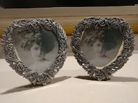 (NEW) 2pc Heavy heart pewter frame Suffolk, 23435