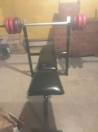 Weight bench and 200 pounds of weights
