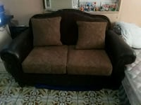 brown and black fabric loveseat Kissimmee, 34742