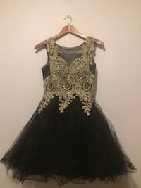 Black sleeveless dress with gold detailing Federal Way