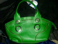 green leather 2-way handbag Vancouver, V6A 1G4