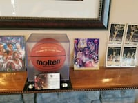 Autographed basketball from Barcelona Olympic game