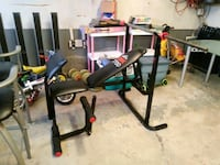 York Workout Bench with Bars and Weights Oakville, L6M 3P5