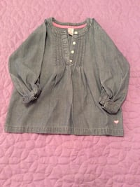 Jean 4-button up long sleeve top