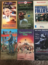 6 VHS movies in good condition Pleasant Hill, 94523