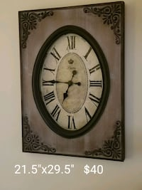 Vintage look wooden clock.  Brandon, 33510