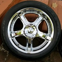 """20"""" Wheels and tires, 5x5 Big Bolt Chevy. Fits 2 Wheel  Drive  Berkeley, 63134"""