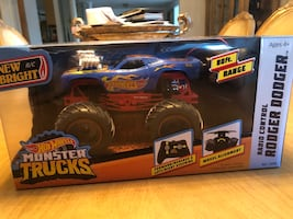 NEW BRIGHT RC REMOTE CONTROL HOT WHEELS MONSTER TRUCK RODGER DODGER