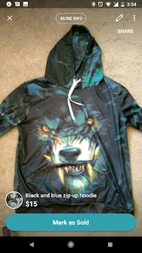 black and blue zip-up hoodie Edmonton, T6A 0H4