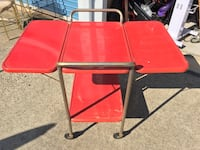 VINTAGE COSCO WHEELED TABLE WITH DROP SIDES $39 Huntersville, 28078