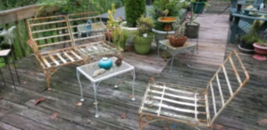 Sold Vintage Wrought Iron Patio