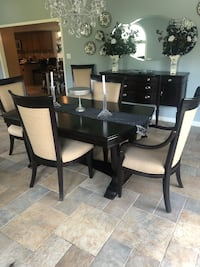 Raymour & Flanigan Dining room Set & Buffet with table pads and 2 leaves  Matawan, 07747